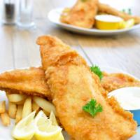Filete de pescado con patatas