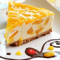 Tarta de queso y fruta
